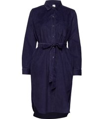 mrkt excl cord midi shrtdrs knälång klänning blå gap