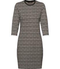 dress short 3/4 sleeve knälång klänning grå betty barclay