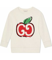 gucci white cotton sweatshirt