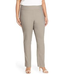 plus size women's nic+zoe 'wonder stretch' high rise straight leg pants, size 14w - grey