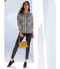 blouse amy vermont zwart::wit