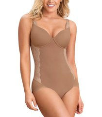 leonisa women's lace-trim bodysuit shaper 018506