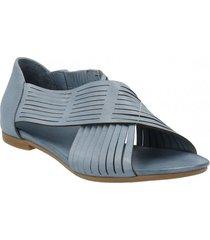 sandalia cuero amber azul rockford