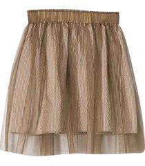 brunello cucinelli sand skirt
