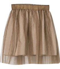 brunello cucinelli sand skirt