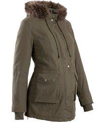 giacca prémaman regolabile con fodera peluche (verde) - bpc bonprix collection