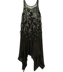 muller of yoshiokubo gatsby dress - black