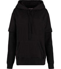 mm6 maison margiela cotton hoodie
