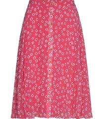 tjw pleated button thru skirt knälång kjol rosa tommy jeans