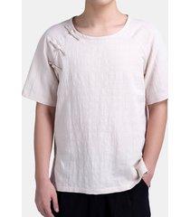 t-shirt puro in lino cotone