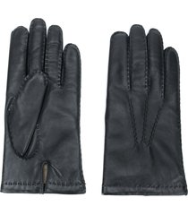 n.peal chelsea leather gloves - black