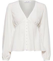 petunia blouse 10056 blouse lange mouwen wit samsøe & samsøe