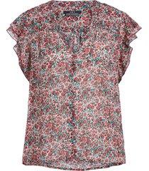 blouse met bloemenprint tye  rood