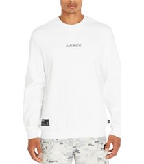 avirex men's logo sweatshirt