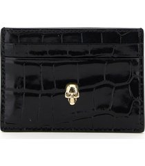alexander mcqueen skull card holder