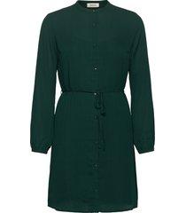 filo print dress jurk knielengte groen modström