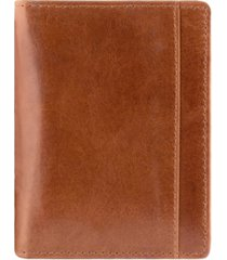 mancini casablanca collection men's rfid secure center unique vertical wing wallet