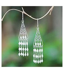 cultured pearl chandelier earrings, 'temple snowfall' (indonesia)
