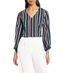 women's halogen v-neck blouse, size xx-large - black