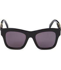 stella mccartney women's 49mm square sunglasses - black