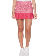 grand slam by pga tour colorblocked floral ruffled skort