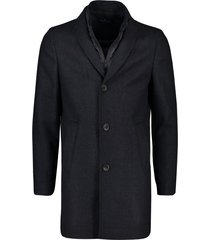 portofino jas halflang donkerblauw geprint