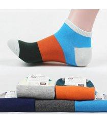 calzini da uomo in estate calze da bloccaggio dei colori cool absorbare l'odore di sudore proofing calze in cotone