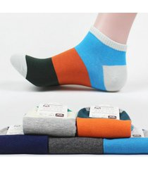 summer mens calze color blocking calze cool assorbe il sudore anti-odore cotone calze