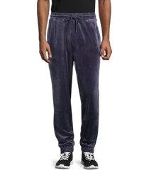 fila men's velour drawstring pants - navy - size xl