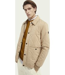 scotch & soda quilted cotton-blend jacket