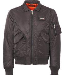 schott charcoal bomber flight jacket 210100