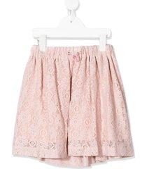 raspberry plum brexley lace skirt - pink