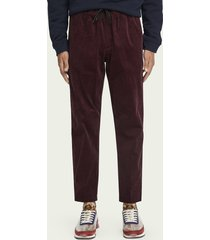 scotch & soda fave – 100% katoenen corduroy broek | tapered fit