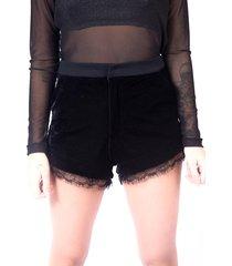 short up side wear veludo preto