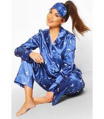 5-delige sterrenprint pyjama set, navy