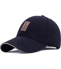 gorra golf ajustable # 2 - color azul marino logo marron