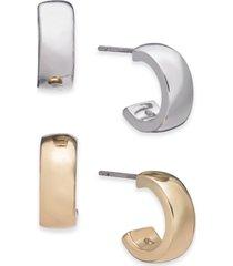 alfani two-tone 2-pc. set small hoop earrings, created for macy's