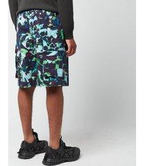 kenzo men's printed cargo shorts - grass green - w36