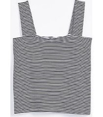 loft striped fitted square neck outfit-making tank