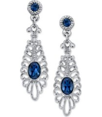 2028 silver-tone montana filigree drop earrings