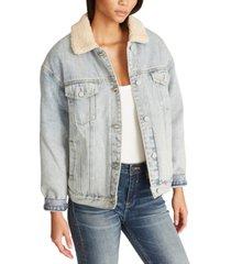 vigoss jeans sherpa-lined denim jacket