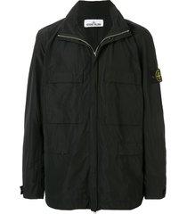 stone island micro reps logo jacket - black