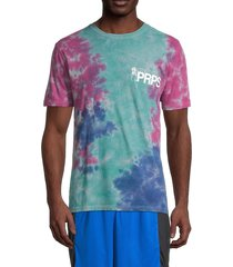prps men's antioch tie dye logo t-shirt - fuchsia - size s