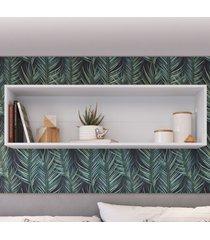 nicho de decoração retangular ae120 branco - art in móveis