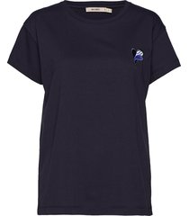 nico embroidery t-shirts & tops short-sleeved blauw whyred