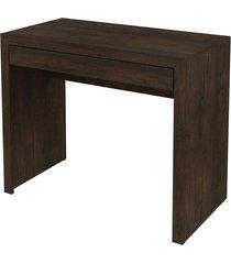 mesa p/ escritório rustico tecno mobili marrom