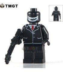 joker with black coat dc super heroes minifigure building blocks bricks toys