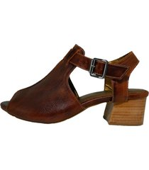 sandália comitiva boots open boot couro atanado sela - tricae