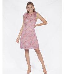vestido adrissa estampado mini print