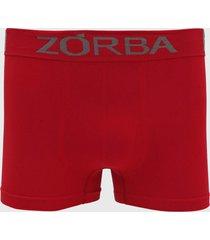 cueca zorba boxer lettering vermelha - vermelho - masculino - poliamida - dafiti